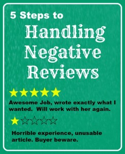 5 steps to handling negative reviews