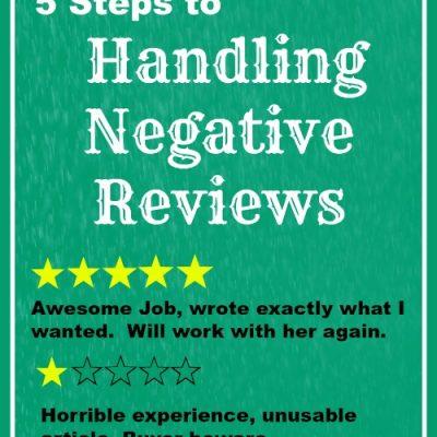 5 Steps to Resolving Negative Reviews