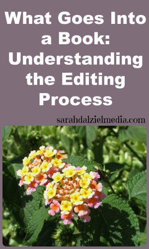 what goes into a book in the editing process