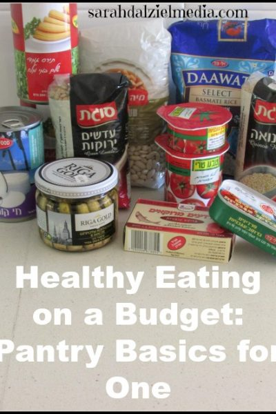 even for one person, some basic pantry principles can help you maintain healthy eating on a budget